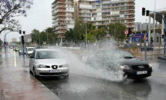 Veel Problemen In De Provincie Alicante Vanwege De Regen En Weer Sneeuw