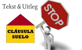 Overig nieuws spanjevandaag for Clausula suelo popular