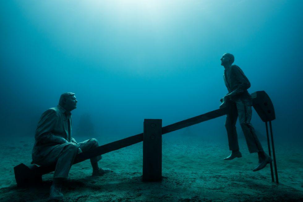 Lanzarote heeft de primeur: eerste Europese onderwatermuseum is geopend (foto's)