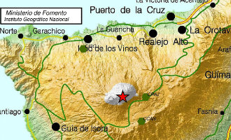 Aardbeving Van 3 Op Richter Schaal Geregistreerd Onder De Teide Berg Op Tenerife