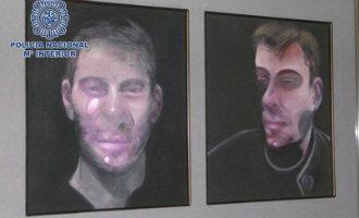 Politie arresteert verdachten van grootste kunstroof ooit in Spanje van Francis Bacon schilderijen