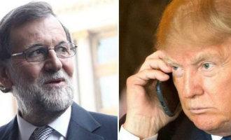 Spaanse president Rajoy heeft over de telefoon met Trump gesproken