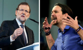 Mariano Rajoy (PP) en Pablo Iglesias (Podemos) opnieuw gekozen als partijleiders in Spanje