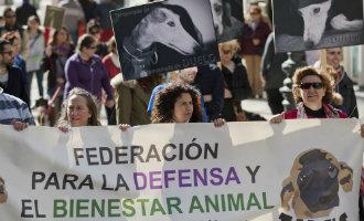 Demonstraties in heel Spanje tegen het jagen met honden