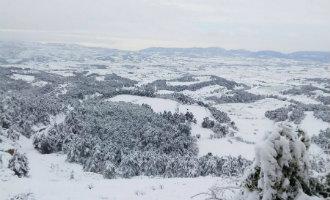 Veel Sneeuw Gevallen In Het Achterland Van De Costa Dorada
