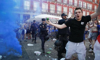 Politie moet optreden tegen Britse hooligans in Madrid