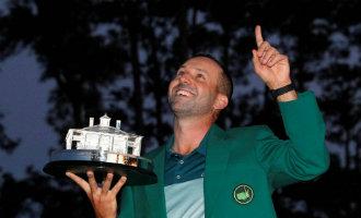 Spaanse golfer Sergio Garcia wint eindelijk en na 18 jaar wachten het Augusta toernooi