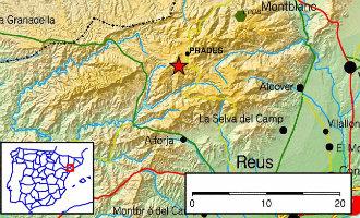 Aardbeving van 2,6 op Richter schaal in de provincie Tarragona