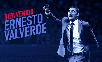 Spanjaard Ernesto Valverde is de nieuwe hoofdtrainer van FC Barcelona