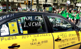 Taxichauffeurs gaan op 30 mei in heel Spanje staken als protest tegen Uber en Cabify
