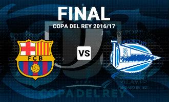 Copa del Rey finale tussen FC Barcelona en Deportivo Alavés