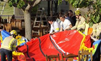 Opnieuw kinderen gewond bij het wegvliegen van een springkussen nabij Madrid