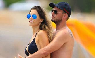 Voetballer Wesley Sneijder en vrouw Yolanthe openen loungeclub op Ibiza