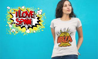 Laat je liefde voor Spanje zien met onze leuke en exclusieve t-shirts