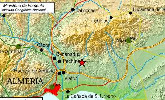 Aardbeving van 3,8 op Richter schaal gevoeld in de provincie Almería