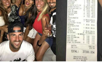 Lionel Messi moet lachen om de vermeende factuur van 37.330 euro in een pizzeria op Ibiza