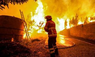 Een grote allesverwoestende en dodelijke bosbrand zoals in Portugal kan in Spanje ook gebeuren (2017)