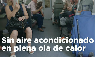 Passagiers zetten trein nabij Barcelona stil omdat de airco niet werkte en het bijna 40 graden in de coupé was