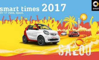 Salou wordt overgenomen door honderden Smart auto's tijdens het Smart Times 2017 evenement