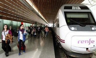 Staking bij de treinen in Spanje