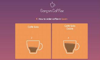 Deze website/app helpt je de juiste koffie in Spanje te kiezen en in het Spaans te bestellen