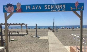 Vélez-Málaga heeft in de wijk Torre del Mar het eerste senioren strand van Spanje en Europa geopend
