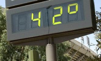 Het kwik is niet onder de 38 graden gekomen met maximaal 42,2 graden aan de Costa del Sol