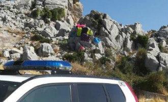 Vier jongeren aangehouden voor graffiti in het natuurpark El Torcal in Málaga