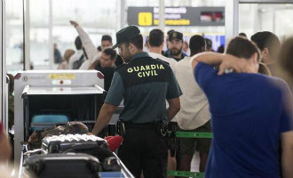 Guardia Civil voorkomt staking chaos op het vliegveld van Barcelona