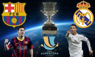 Spaanse Supercup Clásico tussen FC Barcelona en Real Madrid
