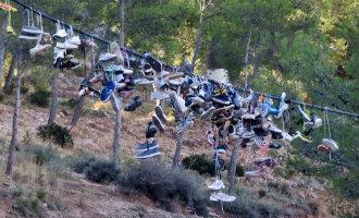 Duizenden schoenen verwijderd uit het Chíllar rivier wandelgebied in Nerja