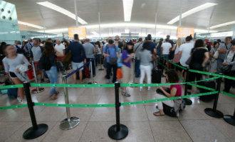 Staking gaat door op het vliegveld Barcelona-El Prat
