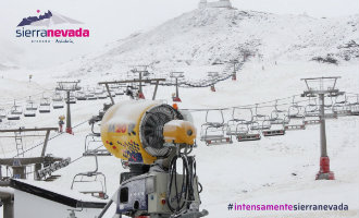 Sierra Nevada in Granada ziet de eerste sneeuw vallen