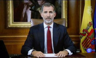 Koning Felipe VI beschuldigt de Catalaanse separatistische regering van een ontoelaatbare ontrouw aan de Grondwet (2017)