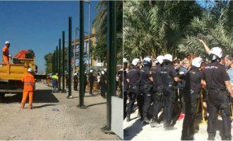 Al wekenlang protesten en aanvaringen met politie in Murcia vanwege aanleg AVE spoorlijn