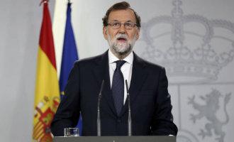 """Rajoy: """"Er heeft geen referendum voor afscheiding van Catalonië plaatsgevonden en het recht heeft gezegevierd"""" (2017)"""