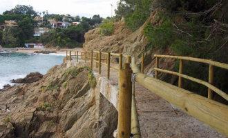 Blanes heropent een deel van het kustwandelpad dat tien jaar gesloten is geweest