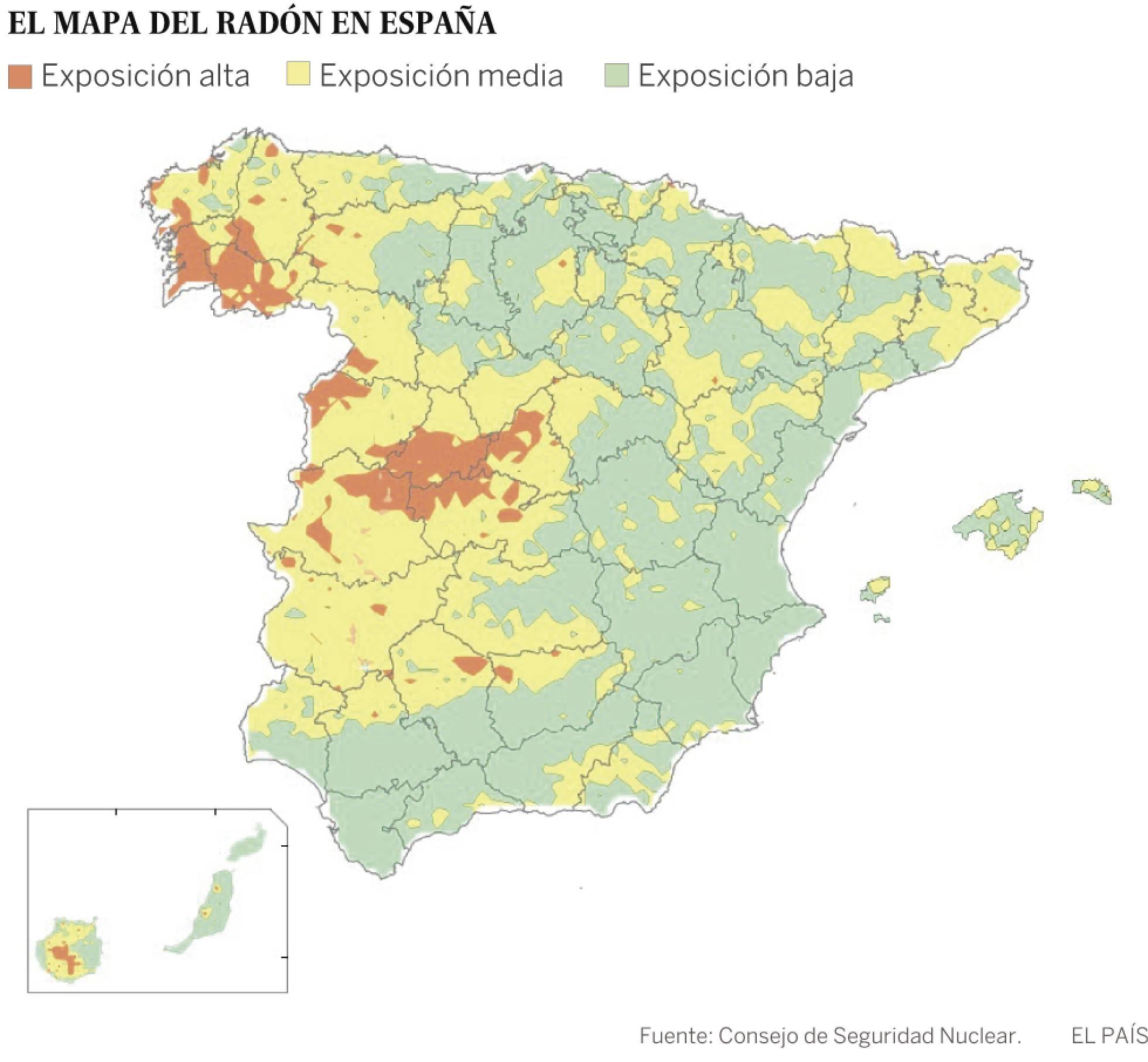 Europese Unie verplicht Spanje actie te ondernemen tegen het kankerverwekkende radongas in woningen