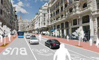 Vanaf 1 december meer voetgangersgebied op de Gran Via in Madrid