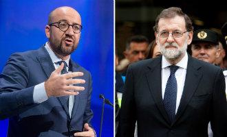 Premier Michel van België zegt dat de politieke crisis in Spanje bestaat maar niet in België