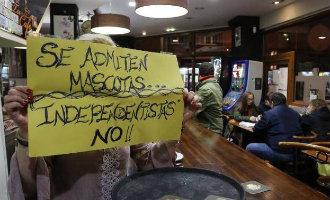 Bar in Asturië laat honden toe maar geen Catalaanse separatisten