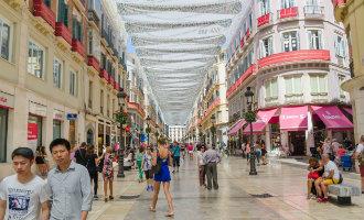 Calle Larios in Málaga voegt zich in rijtje van duurste winkelstraten van Spanje