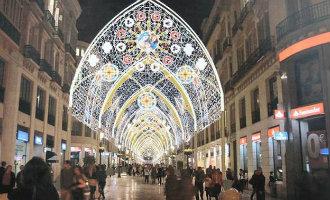 Dit wordt de kerstverlichting die de Calle Larios in Málaga omtovert tot een Kathedraal