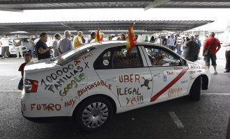 Taxi's in heel Spanje staken vanwege Uber en Cabify