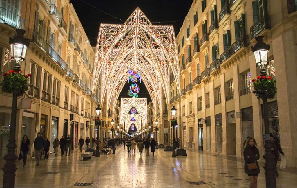 Kerstverlichting in Spaanse steden