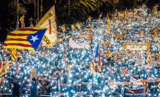 """750.000 separatisten op de been in Barcelona voor de """"politieke gevangenen"""""""