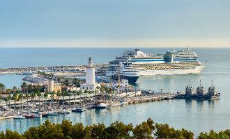 Málaga zal tot september 2018 minstens 350.000 cruiseschip passagiers ontvangen