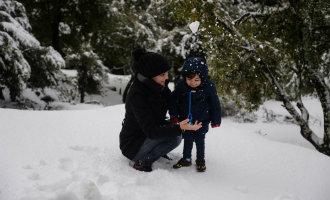 Sneeuwpret Mallorca in foto's