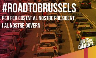 Duizenden Catalaanse separatisten op weg naar Brussel voor manifestatie