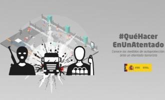 Spaanse regering begint campagne over wat te doen in het geval van een terroristische aanslag